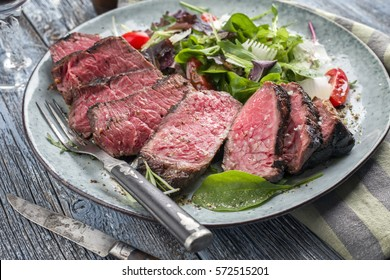 Wagyu Point Steak with Italian Salad