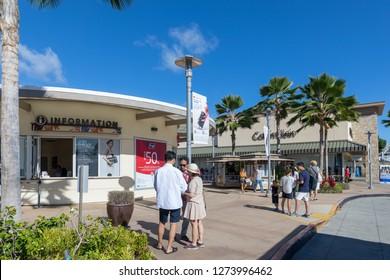 Wahiawa, Hawaii - Dec 25, 2018 : Waikele Premium Outlets in Honolulu County, Hawaii, Tour destination