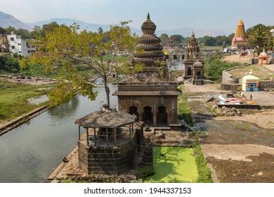 WAI, MAHARASHTRA, INDIA-FEB 05,2009 : View of Krishna river, Menavali Ghat, WAI, MAHARASHTRA INDIA.