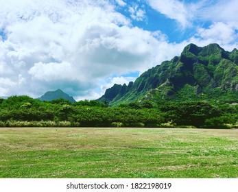 Waianae Range in Oahu, Hawaii