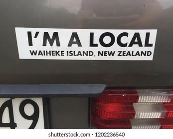 Waiheke Island Car Sticker