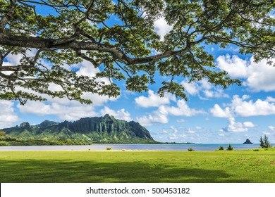 Waikane Kaneohe Bay in Oahu, Hawaii, USA