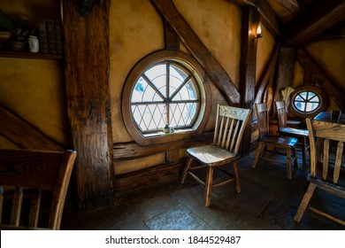 Waikato, New Zealand - Dec 28th, 2019: The Hobbiton Movie Set was a significant location used for The Lord of the Rings film trilogy and The Hobbit film trilogy