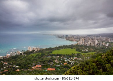 Waikiki Beach From Diamond Head Summit