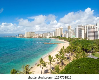 Waikiki beach in Hawaii