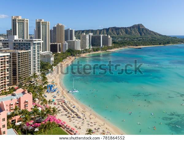 Waikiki Beach Hawaii Stock Photo Edit Now 781864552