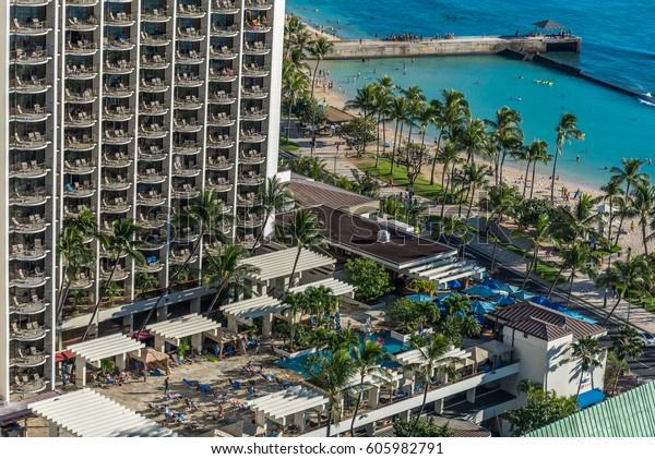 Waikiki Beach Hawaii Usa March 19 Stock Photo Edit Now