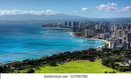 Waikiki Beach and Honolulu