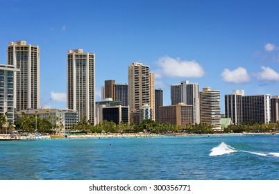 Waikiki Beach, Honolulu, Oahu Hawaii