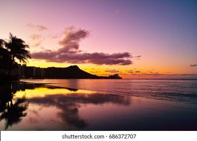 Waikiki before Hawaii dawn