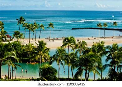 Waikiki on Oahu, Hawaii