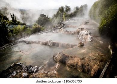 waikite hot stream and terraces, volcanic valley, new zealand, rotorua