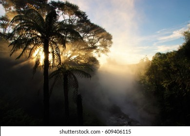 Waikite Thermal Valley Sunset.