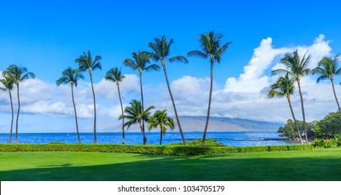 Wailea Beach near Kihei, Maui, Hawaii, USA