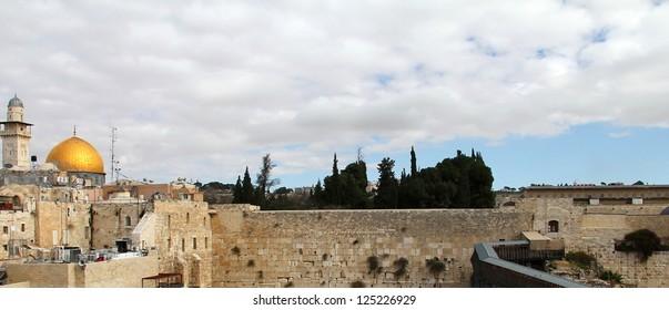 Wailing Wall an important jewish religious site. Jerusalem, Israel