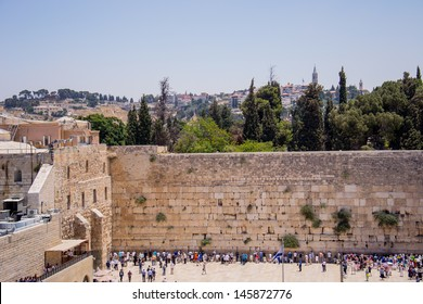 Wailing Wall in Jerusalem,old city