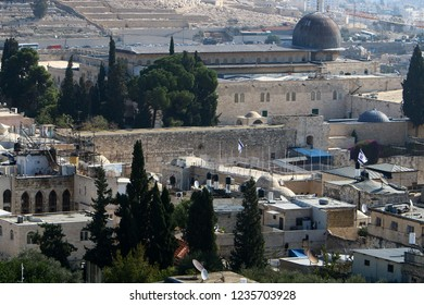 The Wailing Wall on the Temple Mount in the Old City of Jerusalem