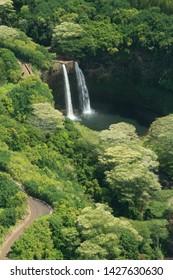 Wailua Falls From The Air