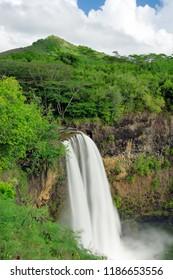 Wailua Falls on the island of Kauai hawaii