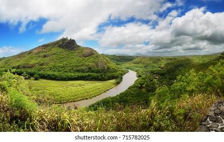 Wailua River Valley, Kauai, Hawaii
