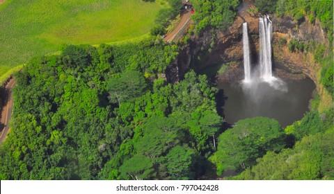 Wailua waterfalls, Kauai, Hawaii