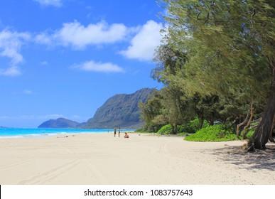 Waimanalo Beach Park, Oahu, Hawaii.