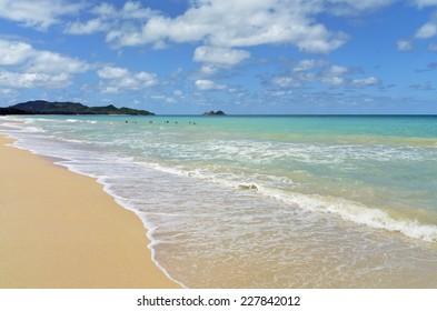 Waimanalo Beach Shore, Oahu, Hawaii.