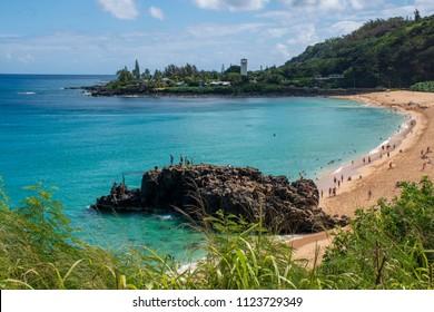 Waimea Bay in Haleiwa, Hawaii