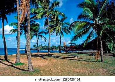 Waimea Bay, North Shore, Oahu, Hawaii,  USA
