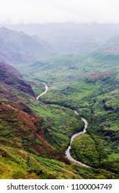 Waimea canyon, Kauai island, Hawaii