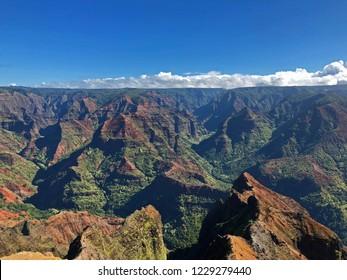 Waimea Canyon from the lookout, Waimea Canyon State Park, Kauai, Hawaii