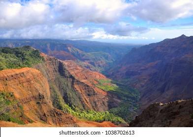 Waimea Canyon State Park on the island of Kauai, Hawaii, USA