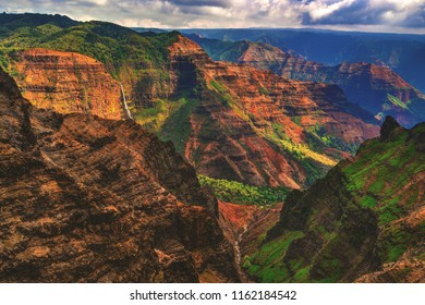 Waimea Canyon State Park on the island of Kauai, Hawaii, one of the most colorful landscapes on earth.