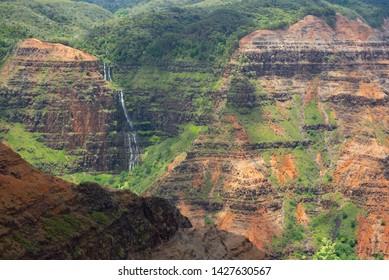 Waimea Canyon Waterfall And Canyon