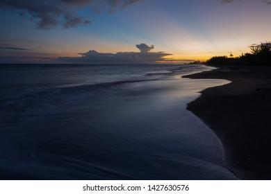 Waimea, Kauai Black Sand Sunset