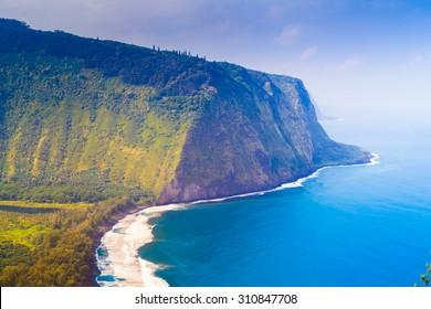 Waipio valley lookout on Big Island, Hawaii