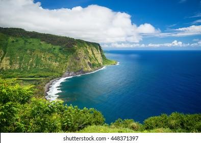 Waipio Valley Lookout view on Big Island, Hawaii