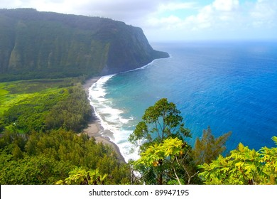 Waipio Valley Scenic View Big Island Hawaii