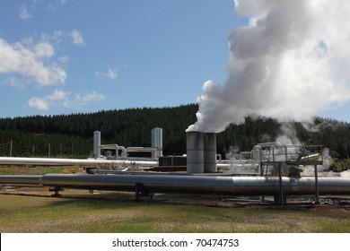 Wairakei Geothermal Power Plant - Taupo - New Zealand