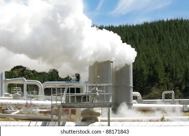 Wairakei geothermal power station, New Zealand.