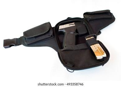 Waist bag carry concealed 9mm pistol
