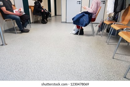 Waiting area in a doctor's office