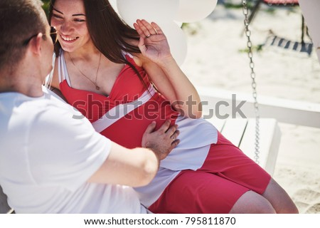 4cc53cccb Waiting Baby Pregnant Woman Beloved Husband Stock Photo (Edit Now ...