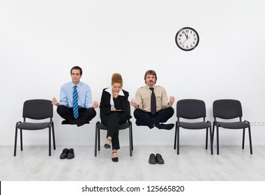 Waiting for the job interview - with a slight disadvantage, adult training importance concept