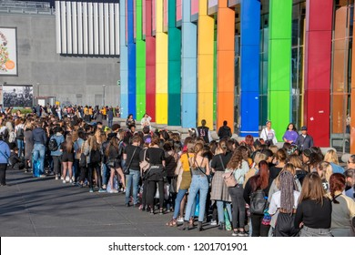Waiting In Line For The BTS Concert At The Ziggo Dome Amsterdam The Netherlands 2018