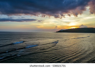Waiting on the hill for sunset, Seger beach Lombok Indonesia
