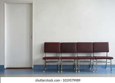 waiting room and white wall for your text