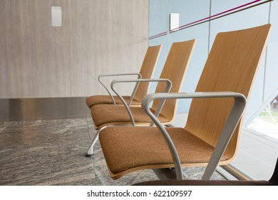 Waiting seat sofa for see doctor, hospital clinic and healthcare concept