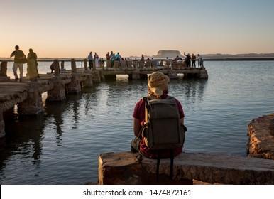 waiting for sunset at Fatnas island siwa Egypt
