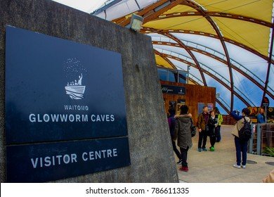 Waitomo, Waikato / New Zealand - May 15 2017: Glowworm Caves Visitor Centre